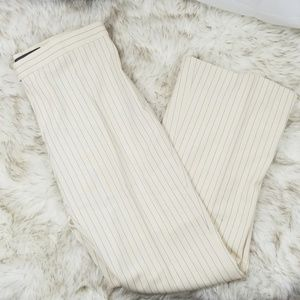 Ralph Lauren Black label cream navy pinstripe pant